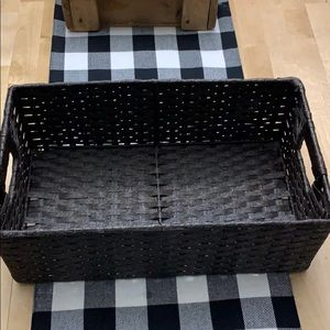 Brown decorative storage basket